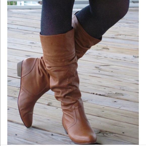 d9a62fb5c35 💎Steve madden cadence slouch leather cognac boots.  M 5b4ebfbc4cdc30b41d3b7f1f